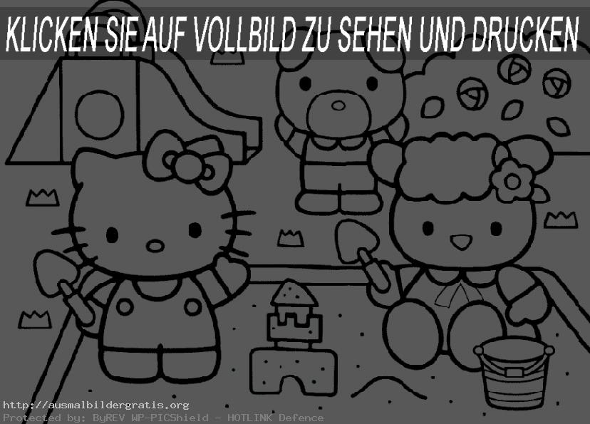 ausmalbilder hello kitty 5